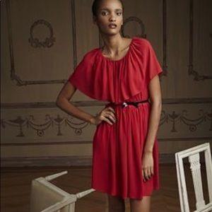 Dresses & Skirts - giambattista valli red ruffle dress